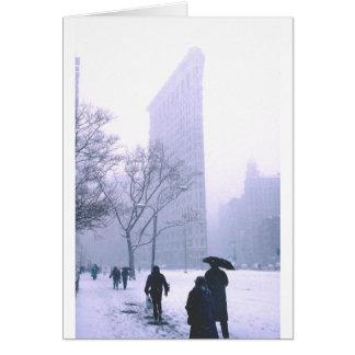 Flatiron Gebäude-Schnee-Sturm New York Karte