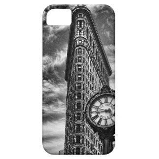 Flatiron Gebäude und Uhr in Schwarzweiss-1C2 iPhone 5 Hülle