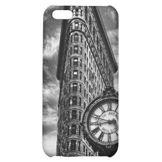 Flatiron Gebäude und Uhr in Schwarzweiss iPhone 5C Hüllen