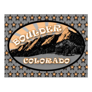 Flatirons, Chautauqua Park, Boulder Colorado Postkarte
