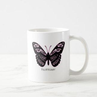 Flattern-Rosa-Glühen-Weiß-Tasse Kaffeetasse