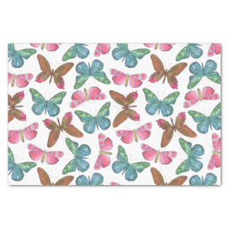 Flatternde Schmetterlinge Seidenpapier