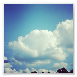 Flaum - Wolken-Foto-Druck Photographien