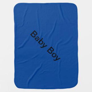 Flaumige blaue Decke