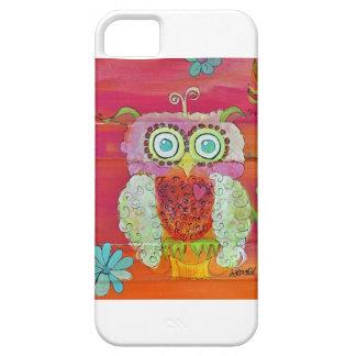 Flaumige Eule in den Rosa und in den Orangen Hülle Fürs iPhone 5
