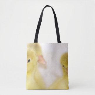 Flaumige gelbe Entlein Tasche