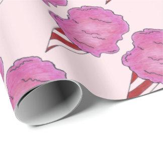 Flaumige rosa Zuckerwatte-gesponnene Geschenkpapier