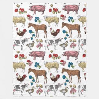 Flaumige Schicht-Bauernhof-Schönheits-Fleece-Decke Fleecedecke