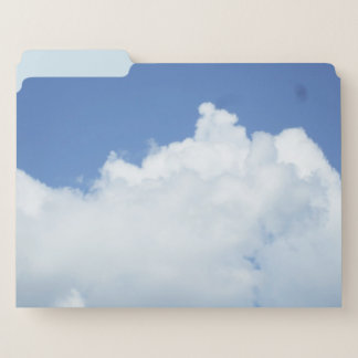 Flaumige weiße Wolke Papiermappe