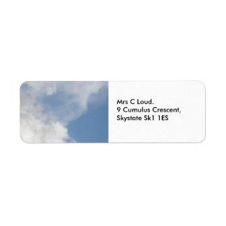 Flaumige Wolken-Gewohnheits-Aufkleber