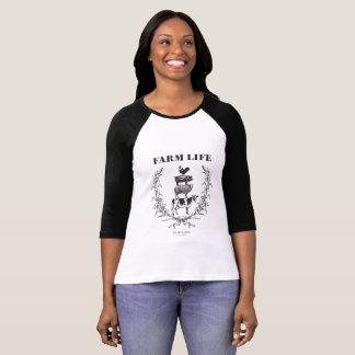 """Flaumiger Schicht-""""Bauernhof-Leben-"""" Baseball T-Shirt"""