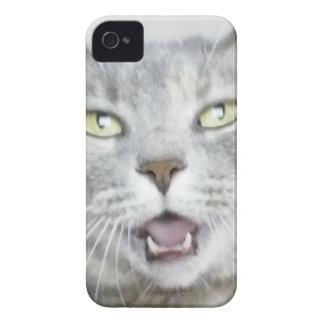 flaumiger unglaublich witzig offener Meow Mund der iPhone 4 Case-Mate Hüllen