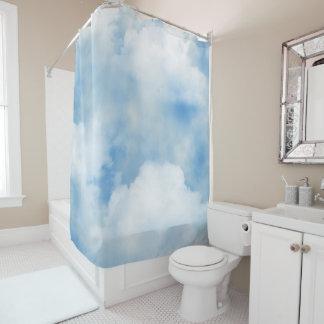 Flaumiger Wolken-Duschvorhang Duschvorhang