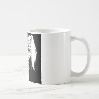 Flaumiges Lil Häschen auf Schwarzem Kaffeetasse