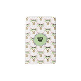 Flaumiges weiße Schaf-Muster Moleskine Taschennotizbuch