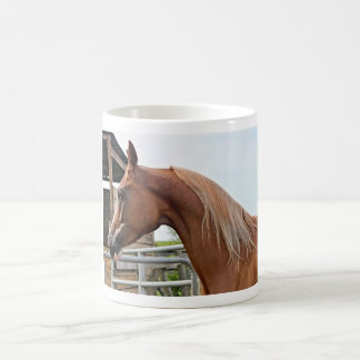 Flaxen Kastanien-arabische PferdeTasse 2 Kaffeetasse