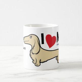 """FLDR """"ich Liebe mein"""" blonder Dackel-Becher LH Kaffeetasse"""