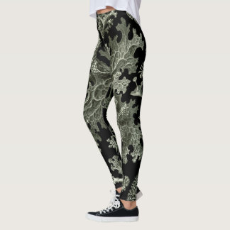 Flechte durch Ernst Haeckel, Vintage Leggings