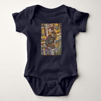 Fleck-GlasMiezekatze-Baby-Bodysuit Baby Strampler