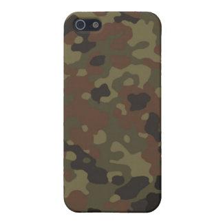 Flecktarn cammo Muster iPhone 5 Schutzhüllen