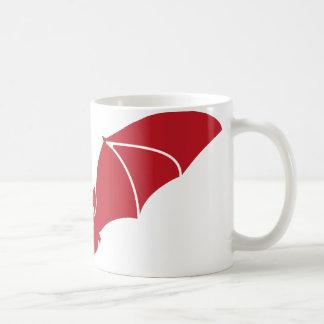 Fledermaus fliegend rot kaffeetasse