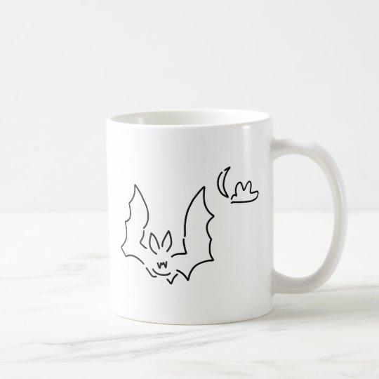 fledermaus flughund nachts mond kaffeetasse