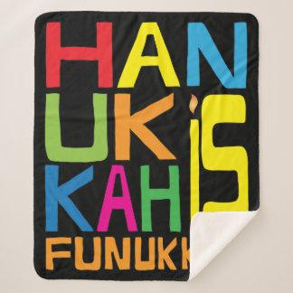 """Fleece-Decke/Medium """"Chanukkas Funukkah"""" Chanukka Sherpadecke"""