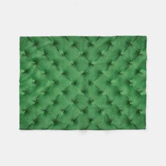 Fleece-Decke mit grünem capitone, klassische Art Fleecedecke