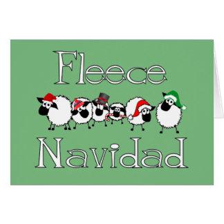 Fleece Navidad lustige Weihnachtskarte Grußkarte