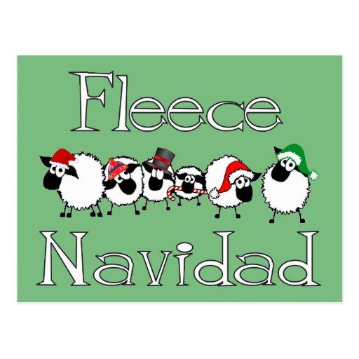 Fleece Navidad lustige Weihnachtspostkarte Postkarte