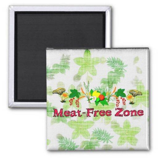 Fleisch-Freie Zone Kühlschrankmagnete