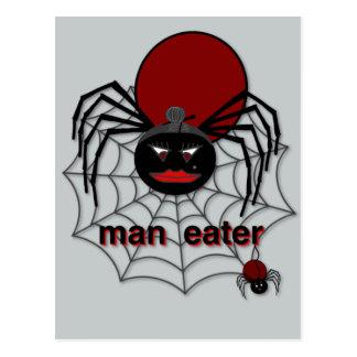 Fleisch fressende Spinne! Postkarte