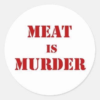 Fleisch ist Mord Aufkleber
