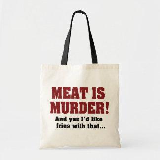 Fleisch ist Mord! Und ja möchte ich Fischrogen mit Tragetasche