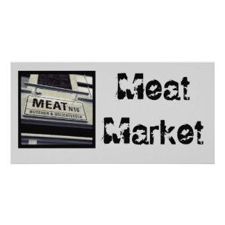 Fleisch-Markt-Postkarte Fotokarten