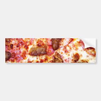 Fleisch-Pizza Autoaufkleber