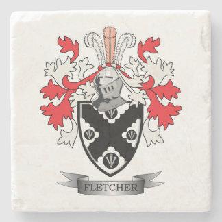 Fletcher Familienwappen-Wappen Steinuntersetzer