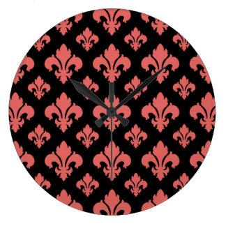 Fleur De Lis 2 Cayenne Clock