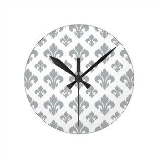 Fleur De Lis 2 Paloma Wall Clock
