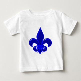Fleur De Lis Blau blue Baby T-shirt