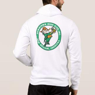 Fleur-de-lis/DIC Logo-weißer ZipHoodie Hoodie