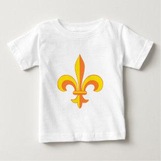 Fleur De Lis gelb yellow Baby T-shirt