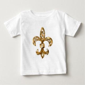 Fleur De Lis Gold Baby T-shirt