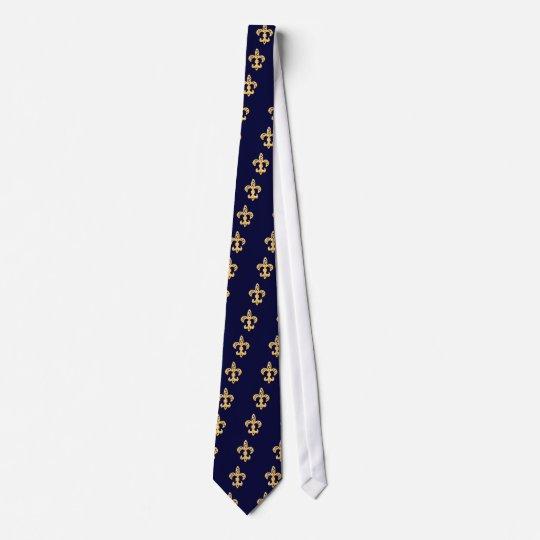 Fleur De Lis Gold Individuelle Krawatte