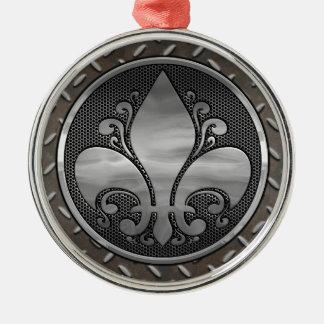 Fleur de Metallic Rundes Silberfarbenes Ornament