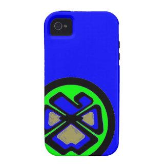 Fleur de Pansee, blaues großes iPhone 4/4S Hüllen