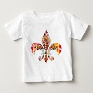 Fleur di Lis Flowers Blumenjuwel-Muster Baby T-shirt