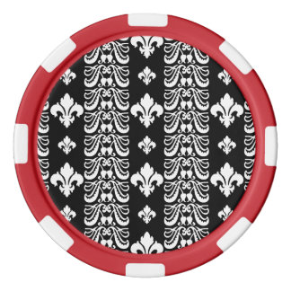 Fleur Streifen 1 Schwarzweiss Poker Chips Sets