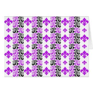 Fleur Streifen 1a lila Grußkarten