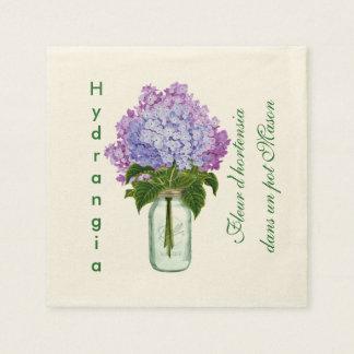"""Fleurs d'hortensia "" Papierserviette"